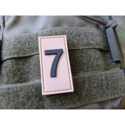 JTG  Identification Patch Zahl 7, desert/ JTG 3D Rubber...