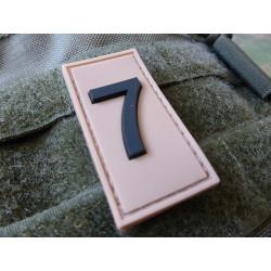JTG  Identification Patch Zahl 7, desert/ JTG 3D Rubber Patch / Abverkauf