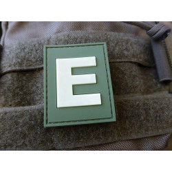 JTG  Identification Patch E Buchstabe, forest gid (glow...