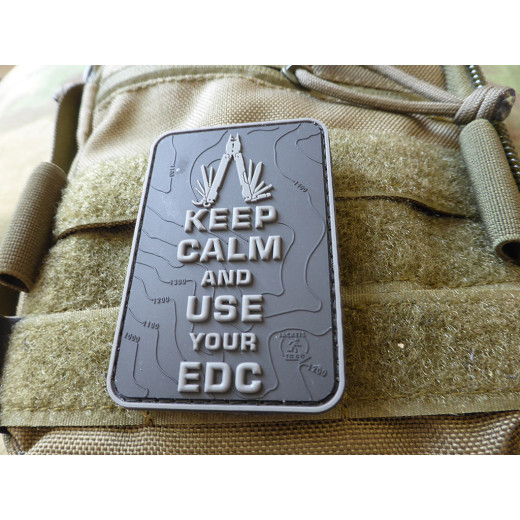 JTG  Keep Calm and use your EDC Patch, blackops / JTG 3D Rubber Patch