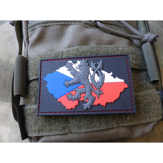 JTG Lion CZ Flag Patch, fullcolor / JTG 3D Rubber Patch