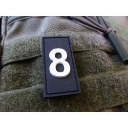 JTG  Identification Patch Zahl 8, swat/ JTG 3D Rubber...