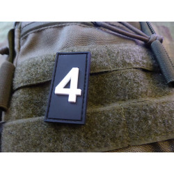 JTG  Identification Patch Zahl 4, swat/ JTG 3D Rubber...