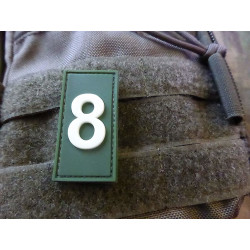 JTG  Identification Patch Zahl 8, forest gid / JTG 3D...