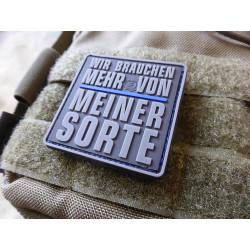 JTG WIR BRAUCHEN MEHR VON MEINER SORTE Patch, Thin Blue...