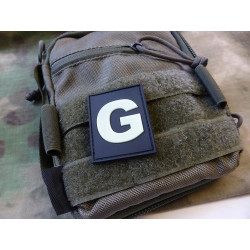JTG  G Letter Identification patch, gid (glow in the...