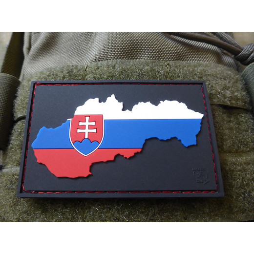 JTG Slovakia Flag Patch special shield edition, fullcolor / JTG 3D Rubber Patch
