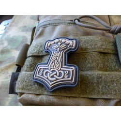 JTG Thors Hammer Mjölnir Patch, tan  / JTG 3D Rubber Patch