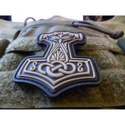 JTG Thors Hammer Mjölnir Patch, tan  / JTG 3D Rubber Patch