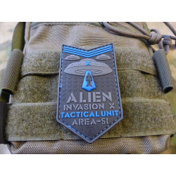 JTG  ALIEN INVASION X-Files, Tactical Unit Patch,...