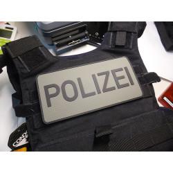 JTG Rückenschild Polizei Patch, steingrau-oliv / 3D...