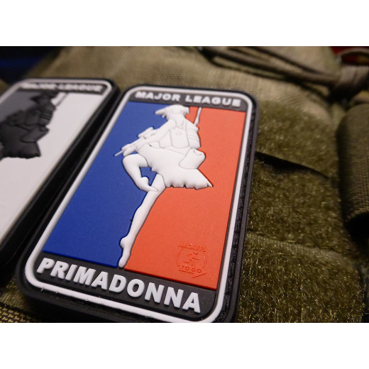 JTG  MAJOR LEAGUE PRIMADONNA Patch, fullcolor / JTG 3D Rubber Patch