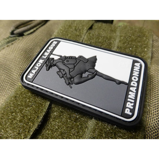 JTG  MAJOR LEAGUE PRIMADONNA Patch, swat / JTG 3D Rubber Patch