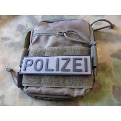 JTG Polizei Schriftzug Patch, steingrau-oliv / 3D Rubber...