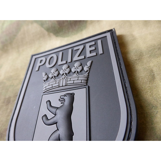 JTG Ärmelabzeichen Polizei Berlin Patch, blackops / JTG 3D Rubber patch