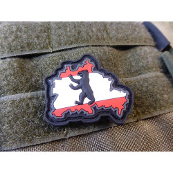 JTG Berliner Bär Flaggen Patch, fullcolor / JTG 3D Rubber...