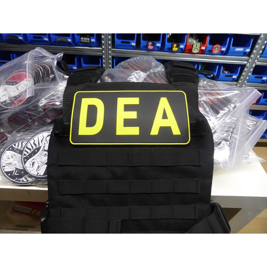 JTG Backplate DEA / Drug Enforcement Agency Patch, yellow / JTG 3D Rubber Patch