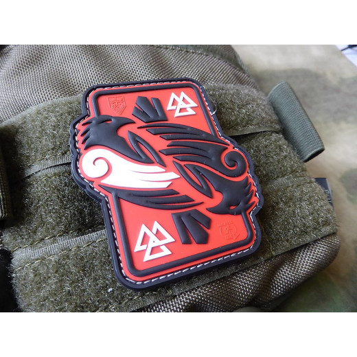 JTG Odins RAVEN Patch, redsky / JTG 3D Rubber Patch