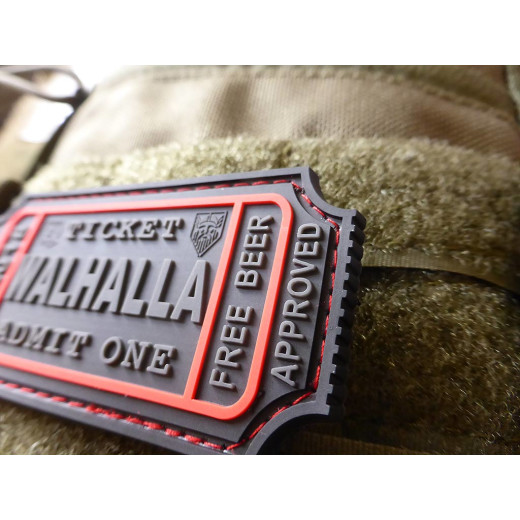JTG WALHALLA TICKET - Odin approved Patch, blackops / JTG 3D Rubber Patch