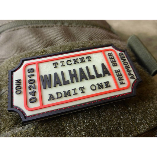 JTG WALHALLA TICKET - Odin approved Patch, gid / JTG 3D Rubber Patch