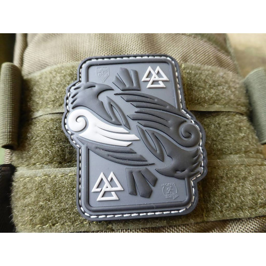 JTG Odins RAVEN Patch, grey / JTG 3D Rubber Patch
