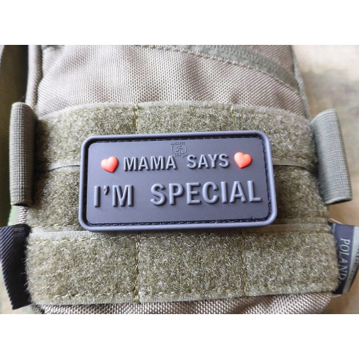 JTG MAMA SAYS - I´M SPECIAL Patch, blackops / JTG 3D Rubber Patch