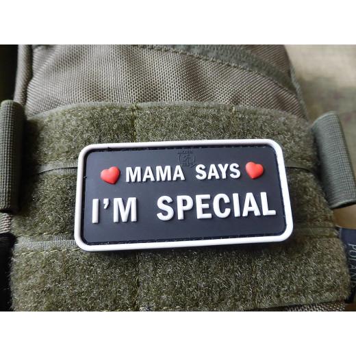 JTG MAMA SAYS - I´M SPECIAL Patch, swat / JTG 3D Rubber