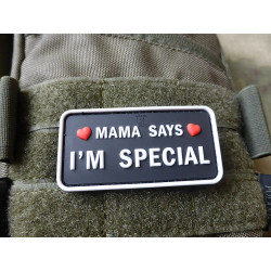 JTG MAMA SAYS - I´M SPECIAL Patch, swat / JTG 3D Rubber...