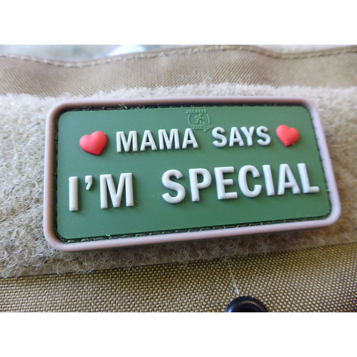 JTG MAMA SAYS - I´M SPECIAL Patch, multicam / JTG 3D Rubber Patch