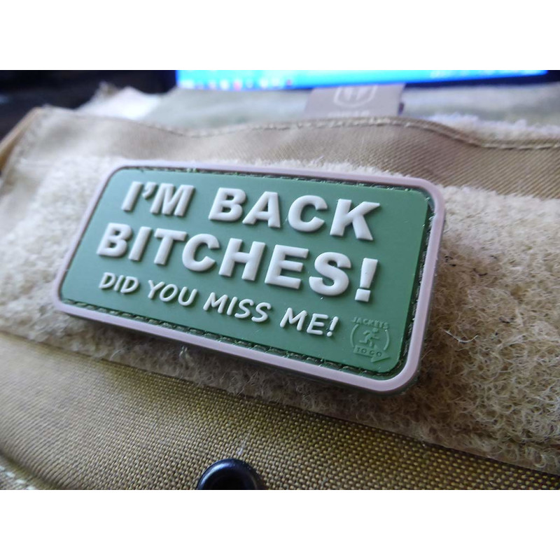 blackops 3D Rubber Patch Jackets To Go JTG I/´M Back Bitches