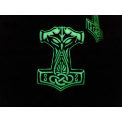 JTG Thors Hammer Mjölnir Patch, gid  / JTG 3D Rubber Patch