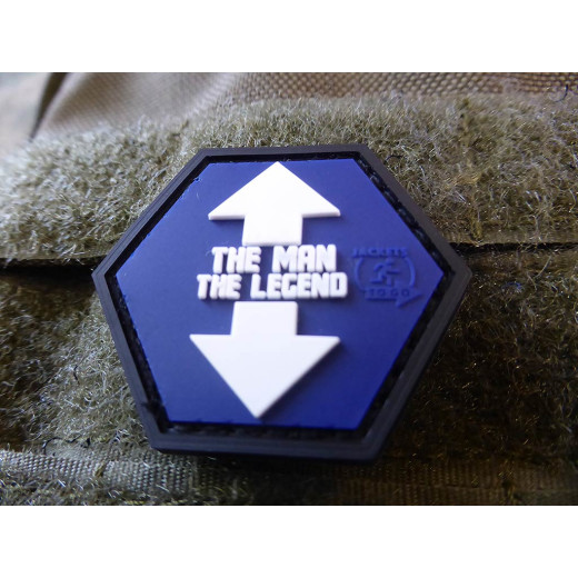 JTG  THE MAN / THE LEGEND Hexagon Patch, fullcolor  / JTG 3D Rubber Patch, HexPatch