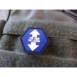 JTG  THE MAN / THE LEGEND Hexagon Patch, fullcolor  / JTG...