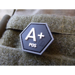 JTG  Bloodtype A Pos Hexagon Patch, swat  / JTG 3D Rubber...