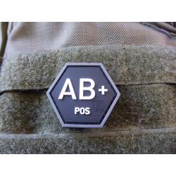 JTG  Blutgruppen Patch AB Pos, Hexagon Patch, swat  / JTG 3D Rubber Patch, HexPatch
