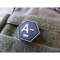 JTG  Blutgruppen Patch A Neg, Hexagon Patch, swat  / JTG...