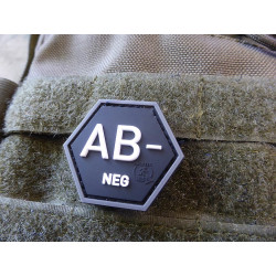 JTG  Blutgruppen Patch AB Neg, Hexagon Patch, swat  / JTG...