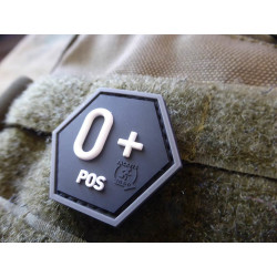 JTG  Blutgruppen Patch 0 Pos, Hexagon Patch, swat  / JTG...