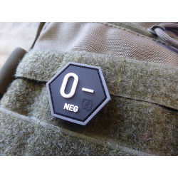 JTG  Blutgruppen Patch 0 Neg, Hexagon Patch, swat  / JTG...