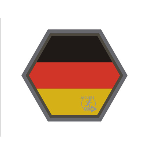 JTG  Deutschland Flagge Hexagon Patch, fullcolor  / JTG 3D Rubber Patch, HexPatch