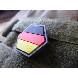 JTG Deutschland Flagge Hexagon Patch, fullcolor  / JTG 3D Rubber Patch, HexPatch