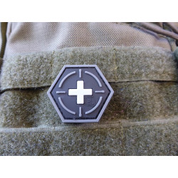 JTG  Tactical Medic Red Cross, Hexagon Patch, swat  / JTG 3D Rubber Patch, HexPatch