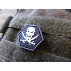 JTG  NoFear Pirate Hexagon Patch, swat  / JTG 3D Rubber...