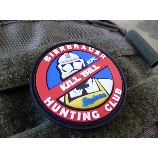JTG  KILL BILL BIERBRAUER HUNTING Patch  / JTG 3D Rubber Patch, limited BZ X Version