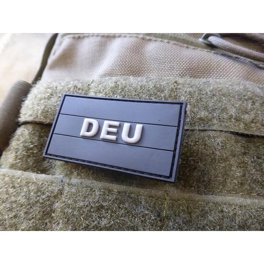 JTG  Deutschland Flaggen Patch mit DEU, black, klein  / JTG 3D Rubber Patch