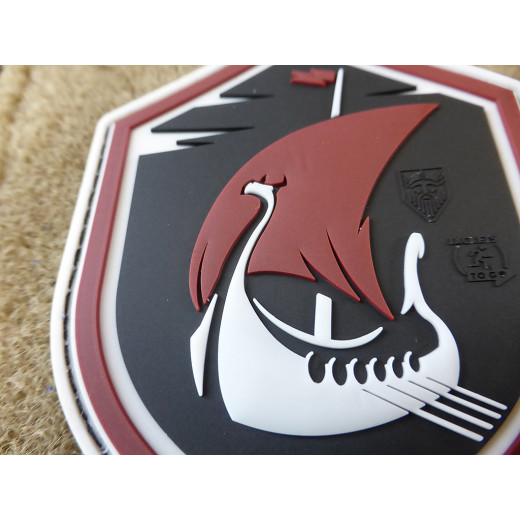JTG DRAGONSHIP AT NIGHT Patch, darksky / JTG 3D Rubber Patch