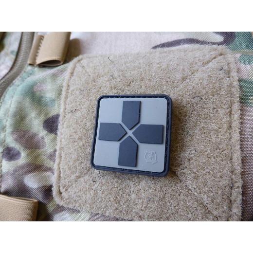 JTG RedCross Medic Patch, 40mm, steingrau oliv / JTG 3D Rubber Patch