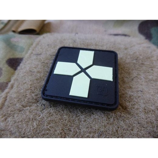 JTG RedCross Medic Patch, 40mm, gid / JTG 3D Rubber Patch