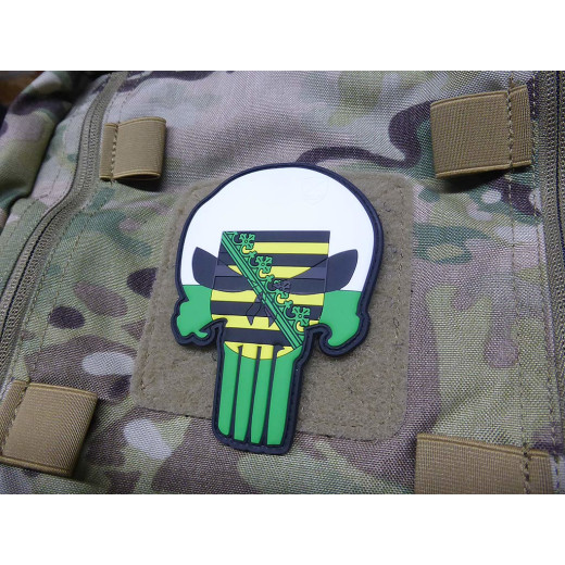 Sachsen Big Skull Patch /  3D Rubber Patch