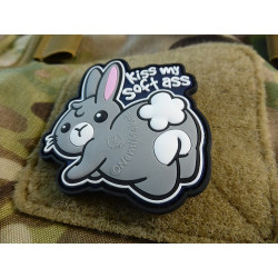 JTG KISS MY SOFT ASS Patch, fullcolor / JTG 3D Rubber Patch